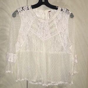 FP lace crop top
